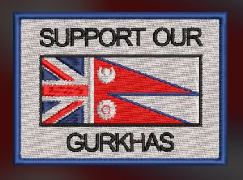 SUPPORT OUR GURKHAS EMBROIDERED BADGE